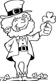Excellent Leprechaun Clipart Black And White 27 About Remodel