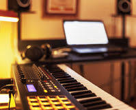 Small Home Recording Studio Royalty Free Stock Photo