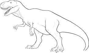 Full Image For Free Printable Dinosaur Coloring Pages Kids Train