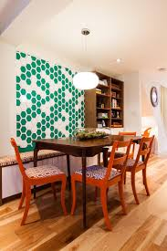 3 Graphic Wallpaper As Art Bright Colorful Dining Room