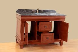 48 Cabinet With Drawers by Bosconi 48 Inch Antique Single Sink Bathroom Vanity Dark