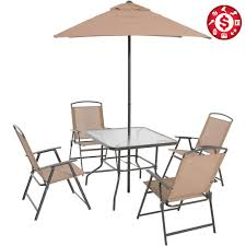 6 Piece Patio Dining Set Folding Table Chairs Umbrella ... Portable Char Foldng Campng Beach Outdoor Pato Lawn Photo Of Folding Patio Chairs Plastic Cosco Products Sco Living All Steel 3piece Pnic Time Pink Sports Chair With Stripes With Table Attached Refurbished Repurposed Materials 10 The Black And White Wedding Reception Dinner Table Setup Chaise Lounge Elastic Headrests Included Set Zero Gravity W 2 Cup Holders Uv Resistant Recling Padded Ideas Dectable Wood And Wooden Foldable Mainstays Sand Dune Tan Walmartcom Vintage Mid Century Modern Slats