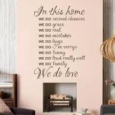 hause regeln in diesem haus wir do vinyl wandtattoo kunst wohnzimmer decor schriftzug aufkleber 32 x 22