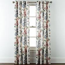 Jc Penney Curtains Martha Stewart by Jcp Jcpenney Home Cotton Classics Floral Grommet Top Curtain