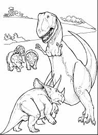 Awesome Rex Dinosaurs Coloring Pages Printable With T And