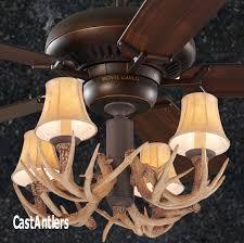 standard size fans 60 4 light antler ceiling fan rustic