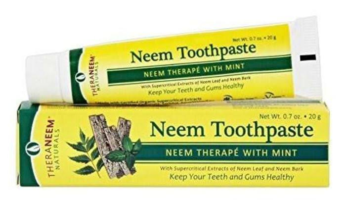 Organix South TheraNeem Naturals Toothpaste, Mint - 0.7 oz tube