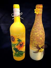 Decorative Wine Bottles Crafts by 48 Best Coffee Bean Glass Bottles Home Decor Decoupage Wine