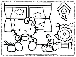 Christmas Kitten Coloring Pages Hello Kitty Kitt