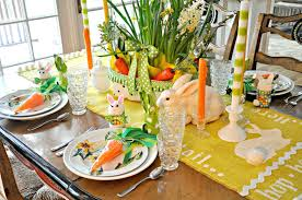 Cheerful Easter Dining Table Decorating Ideas For You Wonderful Setting With
