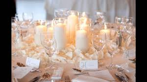 Simple Winter Wedding Table Decorations