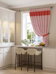 Kitchen Curtain Ideas Pictures Check Plaid Kitchen Curtains Ideas Photos Products