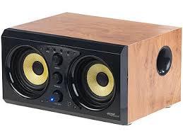 auvisio holz lautsprecher 2 0 soundsystem im holzgehäuse