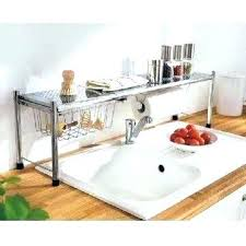 Rack For Dishes Kitchen Sink With Dish Drainer Hanging Dish Drying