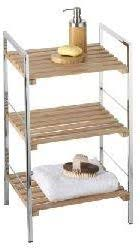 badmöbel badregal badschrank badezimmerschrank chrom bambus