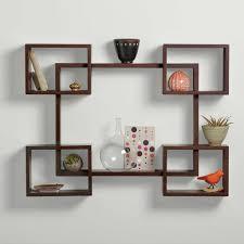Decorations Modern Wall Decor Shelves Ideas Mount Shelf With