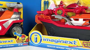 IMAGINEXT RESCUE HEROES FIRE BOAT RIP ROCKEFELLER & FIRE BUGGY FIRE ...