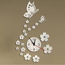 2016 New Hot Acrylic Clocks Watch Wall Clock Modern Design 3d Crystal Mirror Watches Home Decoration