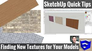 Floor Materials For Sketchup by 4 Places To Find Textures For Your Sketchup Models Sketchup