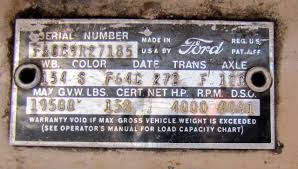 100 Heavy Truck Vin Decoder Decoding Warranty Plate And Serial Number 1960 F100 Custom Cab