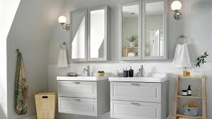 Bathroom - IKEA - IKEA 15 Inspiring Bathroom Design Ideas With Ikea Fixer Upper Ikea Firstrate Mirror Vanity Cabinets Wall Kids Home Tour Episode 303 Youtube Super Tiny Small By 5000m Bathroom Finest Photo Gallery Best House Sink Marvelous And Cabinet Height Genius Hacks To Turn Your Into A Palace Huffpost Life Stunning Hemnes White Roomset S Uae Blog Fniture