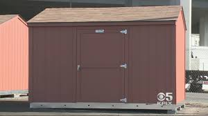 Tuff Shed Denver Address by Oakland Puts Up Storage Sheds As Temporary Homeless Solution Cbs