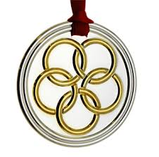 Carrs Of Sheffield 5th Day ChristmasFIVE GOLD RINGS ORNAMENT