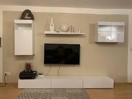 wohnwand lowboard wohnzimmer tv wand tv board
