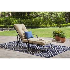 Mainstays Patio Furniture Manufacturer by Mainstays Forest Hills Chaise Lounge Walmart Com