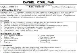 Senior Business Management CV Sample