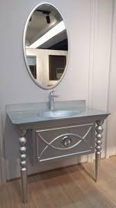 casa padrino barock badezimmer set silber 1 waschtisch mit glas waschbecken 1 wandspiegel badezimmer möbel im barockstil