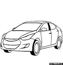 Hyundai Elantra Online Coloring Page