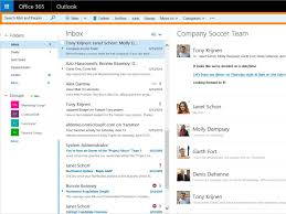 Web version of Outlook for fice 365 business users s a new UI
