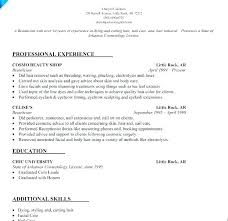 Cosmetologist Resume Sample Cosmetology Objectives Objective Resumes For Instructor Temp Examples
