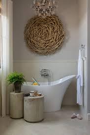 Driftwood Art Ideas Bathroom Transitional With White Slipper Tub Diagonal Floor Tiles Wall Mounted Filler