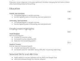 Resume Templates First Job Objective Examples Resumes For Part Time