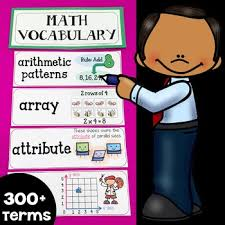 Illustrated Math Word Wall Display Cards 300 Vocabulary Terms