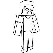 Minecraft Steve Coloring Sheets Pages For Kids Regarding Of Colouring