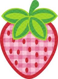 Pink strawberry clipart