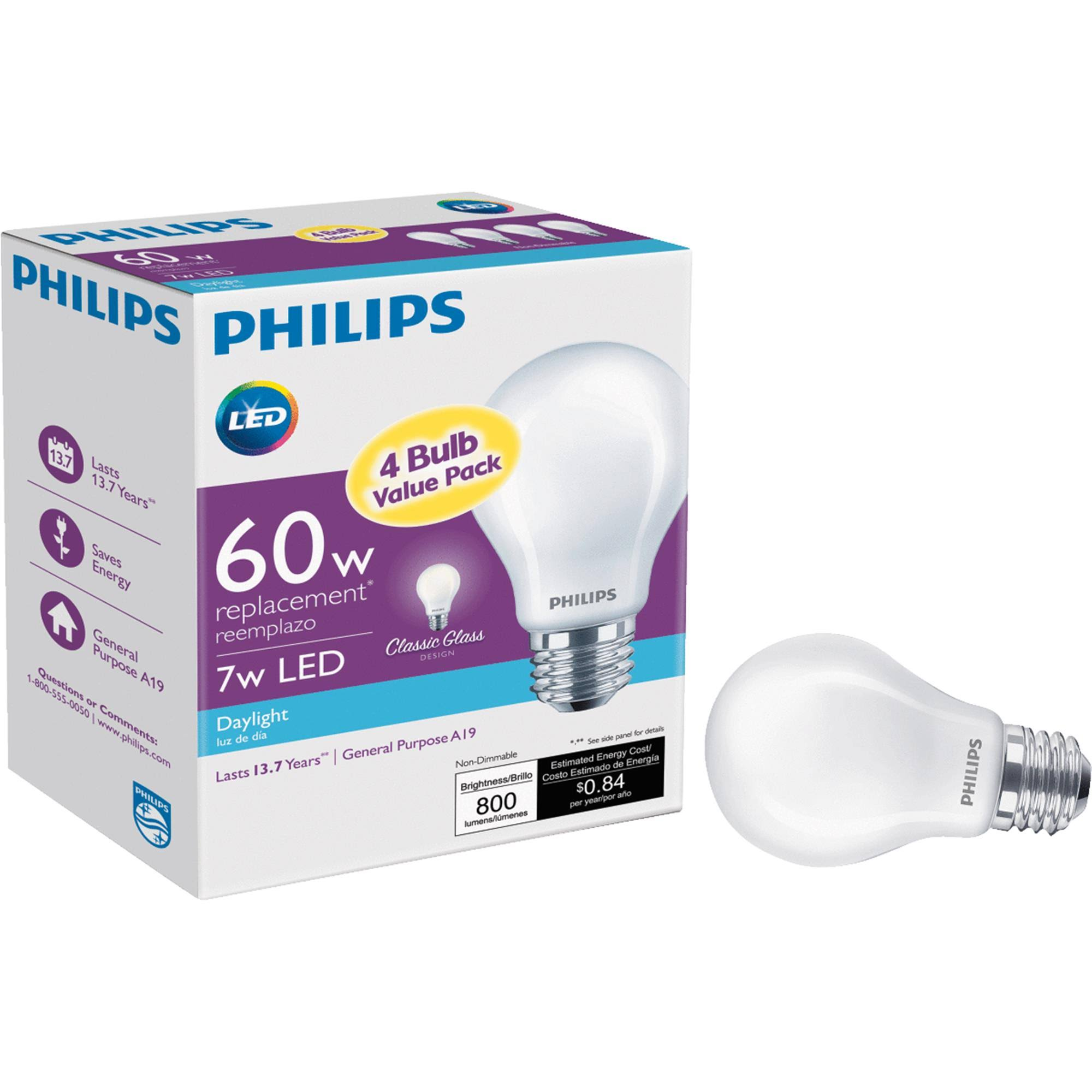Philips A19 Medium LED Light Bulb - 469825