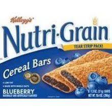 Kelloggs Nutri Grain Blueberry Filled Cereal Bar 104 Ounce