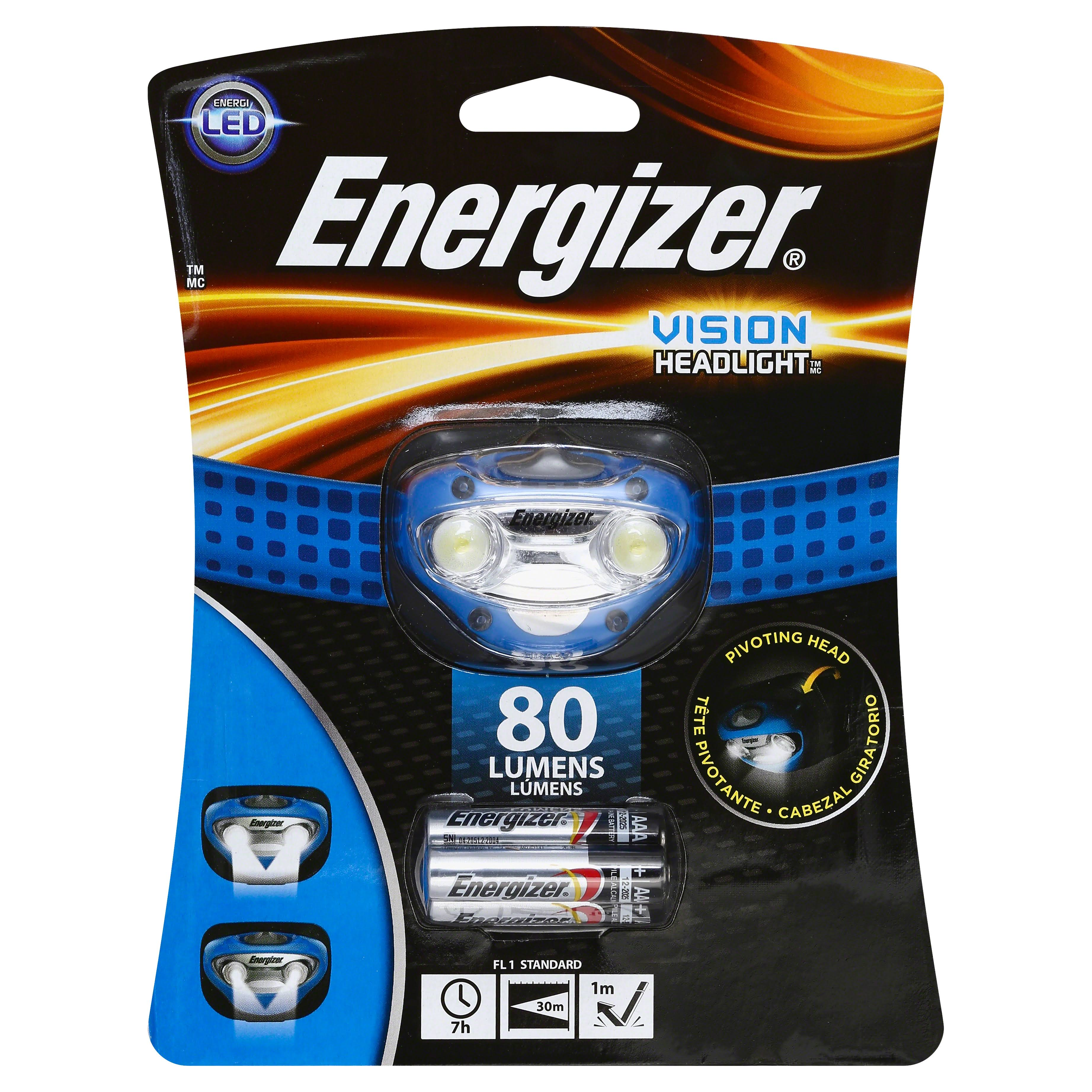 Energizer Vision Head Lamp HD Led - 80 Lumens, Blue