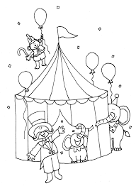 Animal Coloring Pages Circus Animals Free Printable Tent