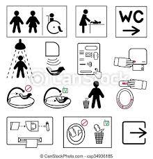 badezimmer öffentlichkeit zeichen schilder toilette