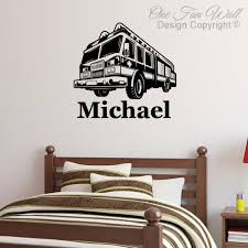100 Fire Truck Wall Decals Decal Sticker Dcor Fighter Personalized Etsy