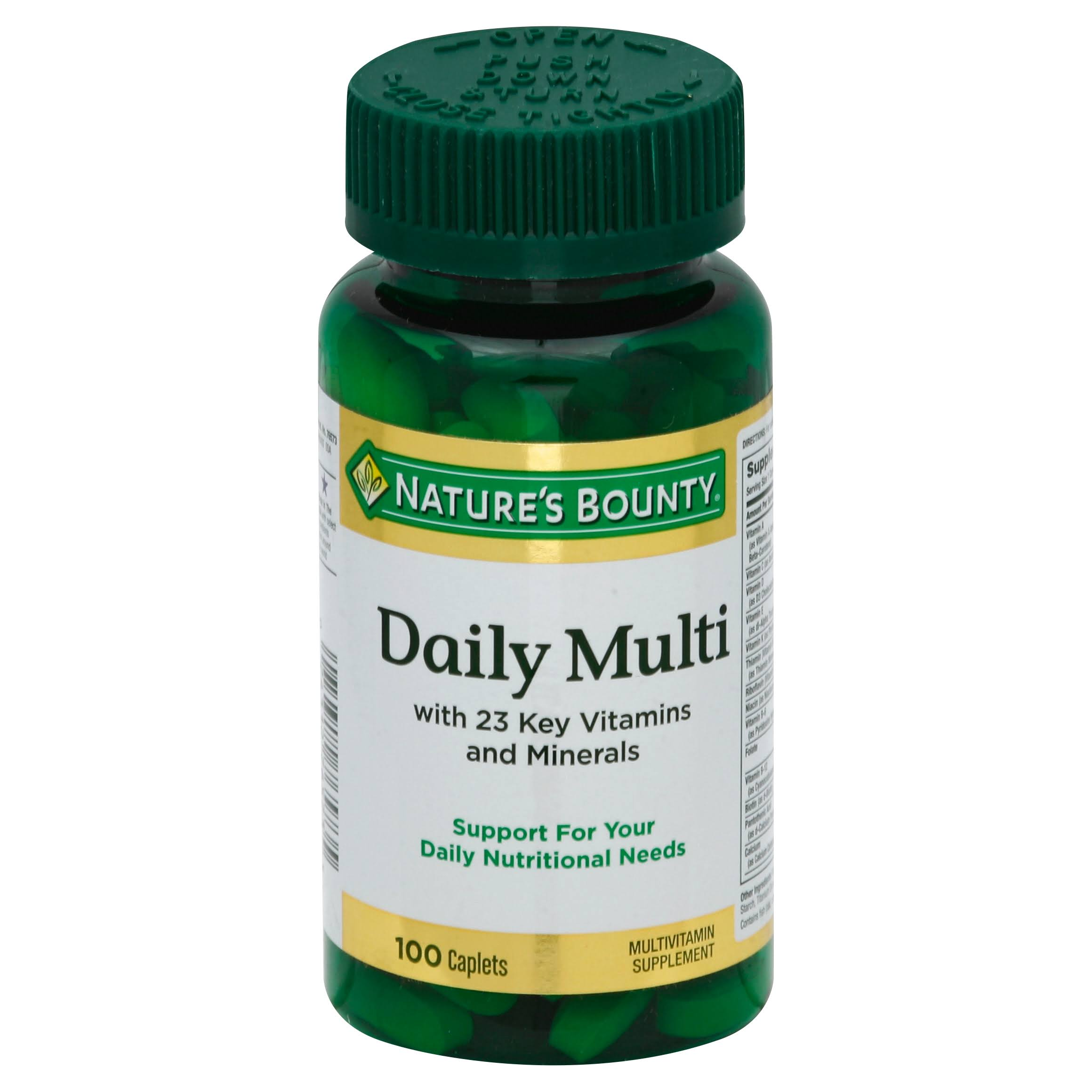 Nature's Bounty Daily Multi Multivitamin Supplement - 100 Caplets