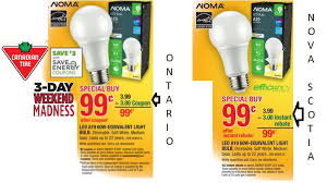 99 noma led a19 60w soft white dimmable canadian tire 3 days