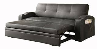 amazon com homelegance 4803blk convertible adjustable sofa bed