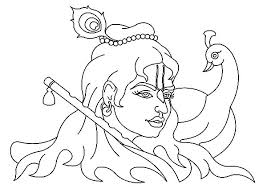 Krishna And Peacock Coloring Pages PagesFull Size Image