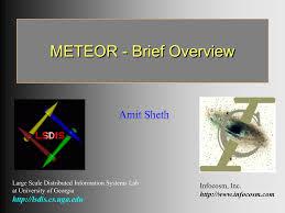 100 Amit Inc METEOR Brief Overview Sheth Infocosm